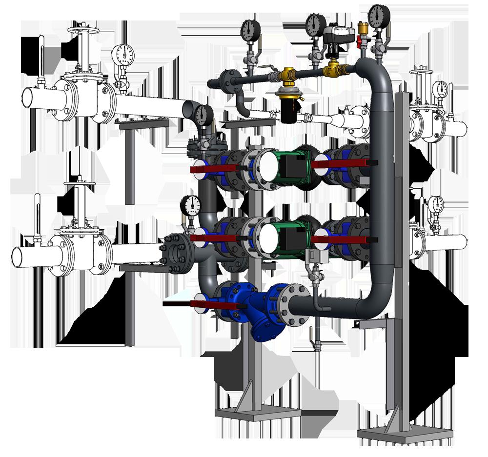 Модульный блок для реконструкции ИТП