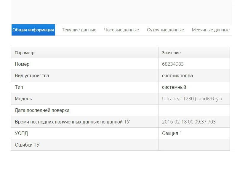Общие данные - Интерфейс программы онлайн доступа