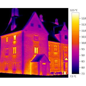 Проверка фасада здания тепловизором